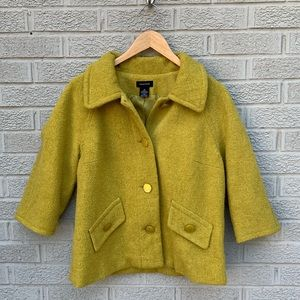 Spense Wool Blend 3/4 Sleeve Coat